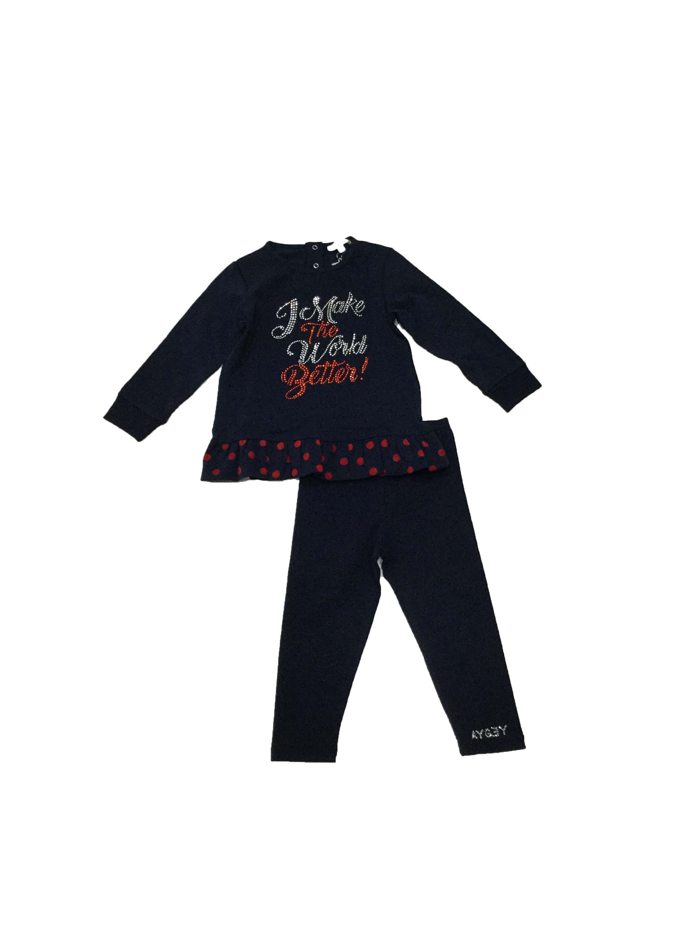 conjunto leggin aygey dados moda infantil tudela